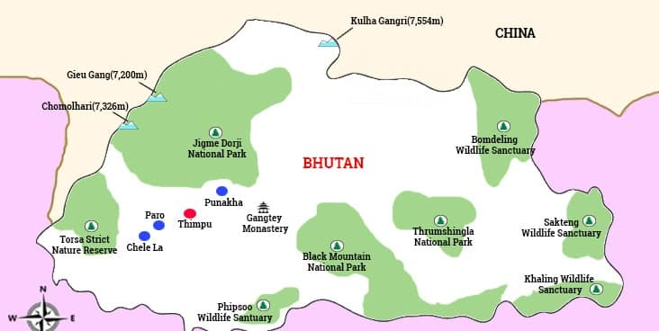 major trekking routes in Bhutan